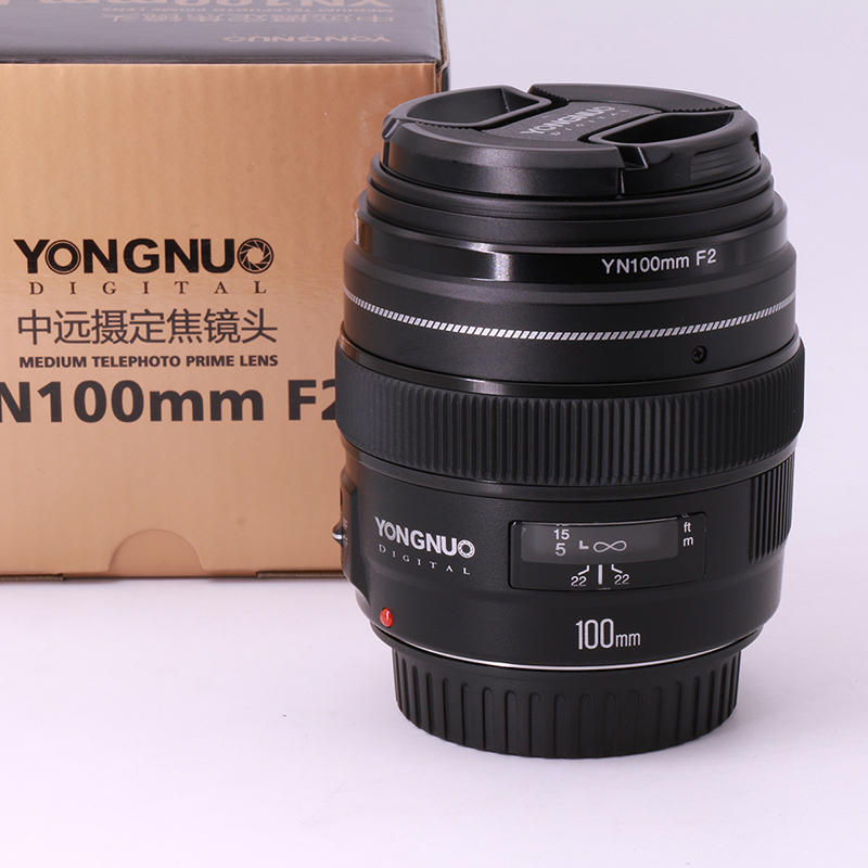 In-Stock! YONGNUO YN100mm F2 AF Large Aperture Auto Focus Lens for Canon EOS DSLR Cameras,Medium Telephoto Prime 100mm F2 Lens