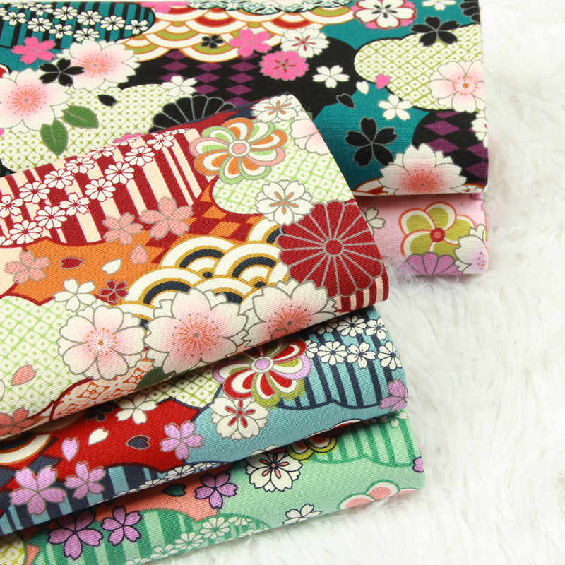 half yard thicken cotton fabric soft breeze flower print handmade DIY bag garment sewing material 100% cotton B452