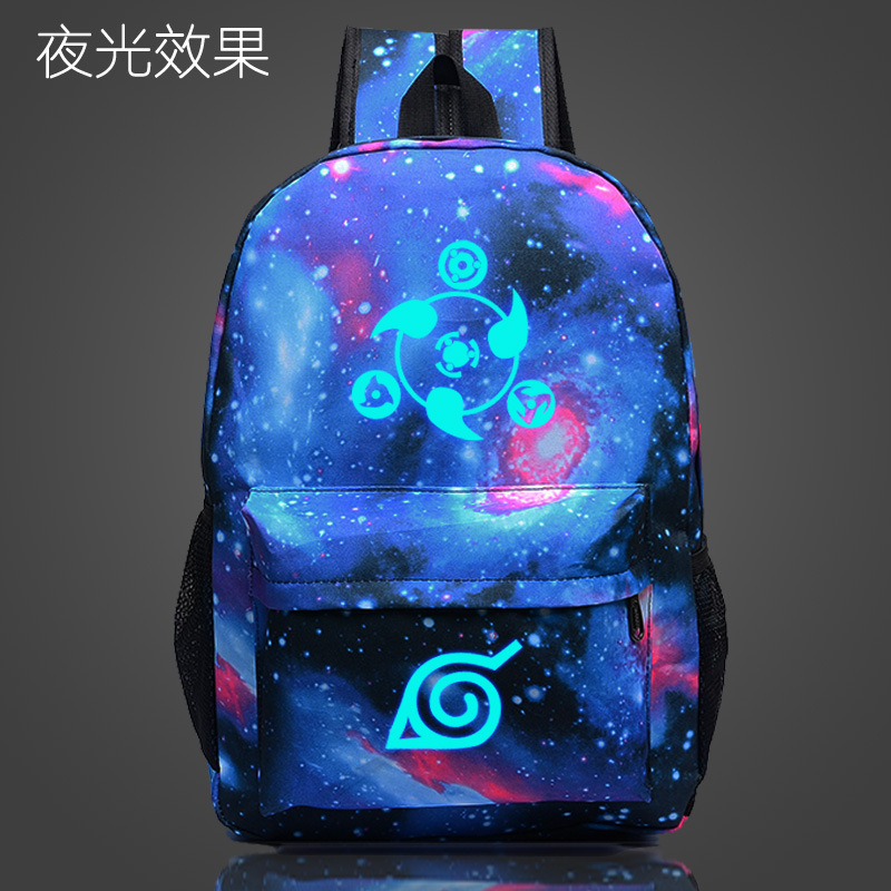 Naruto Luminous School Travel/laptop Backpack for Teenagers