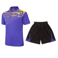 Badminton shirt Quick dry short sleeved T shirt Table tennis suits turndown collar tennis shirts lovers clothes ping pong jersey