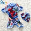 Traje de baño de los bebés de 90-105 cm Spider-Man bebé del traje de baño trajes de baño para niños de dibujos animados bebé pieza infantil niño nadar traje de baño