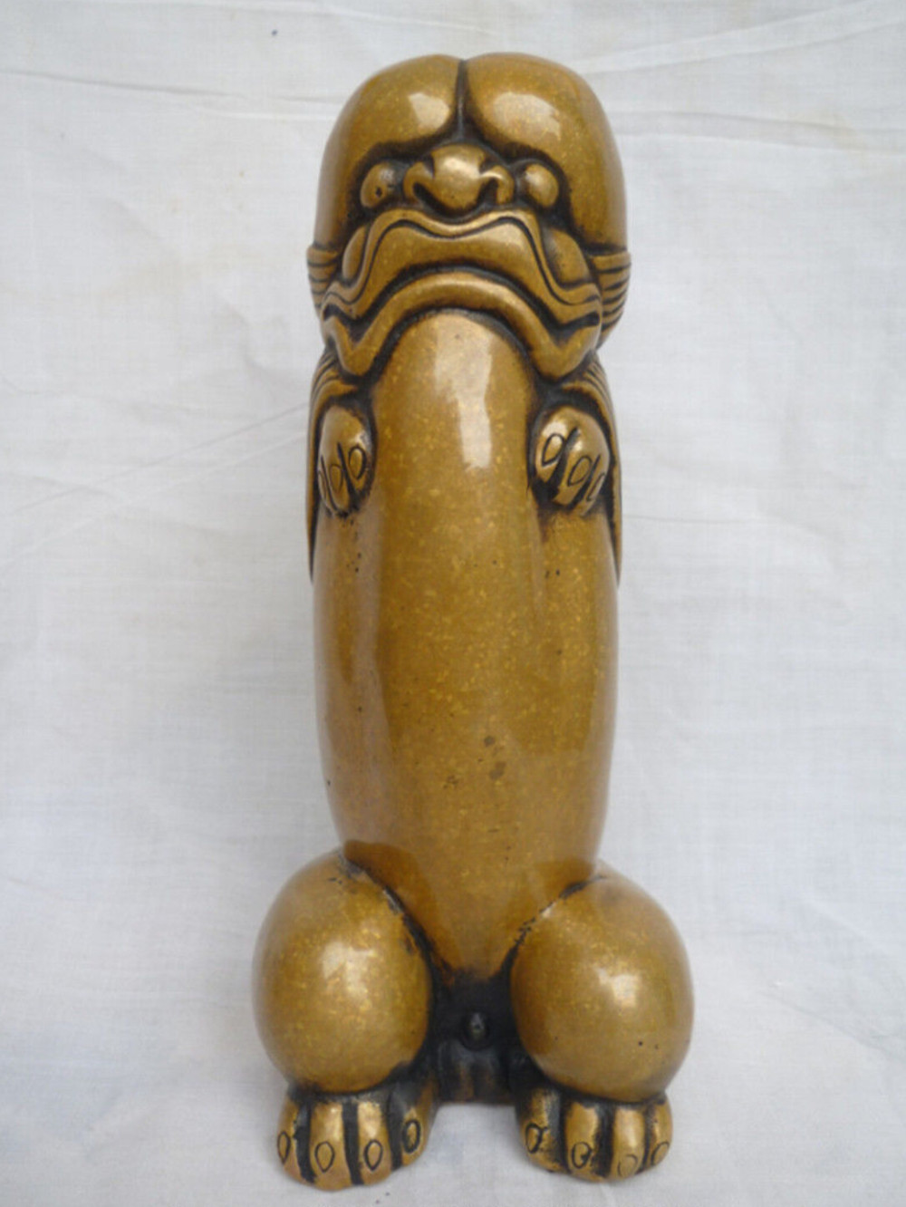 MOEHOMES Chinese old copper bronze penis fengshui statue Family decoration gifts metal crafts