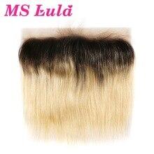 Ms lula волос Омбре блонд предварительно сорвал 13x4 Фронтальная Кружева 1b/613 бразильские Прямые Человеческие волосы remy для наращивания