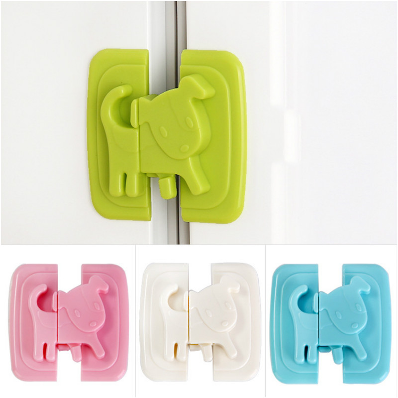 1pcs Baby Cabinet Locks For Refrigerators Door Drawer Cartoon Dog Kid Baby Wardrobe Lock Protection From Baby Security Blocker
