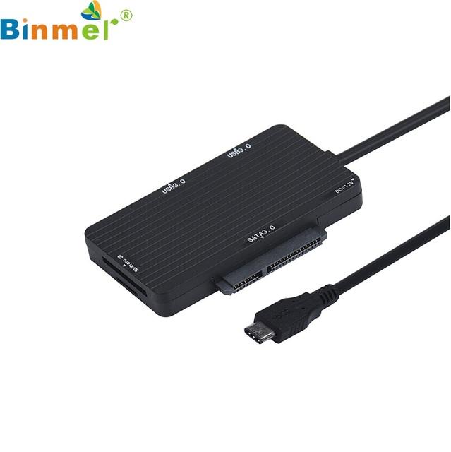 Presente bonito Novo Tipo USB 3.1-C USB-C HUB Leitor de Cartão TF SD Para SSD SATA Cabo Adaptador Atacado preço Dec30