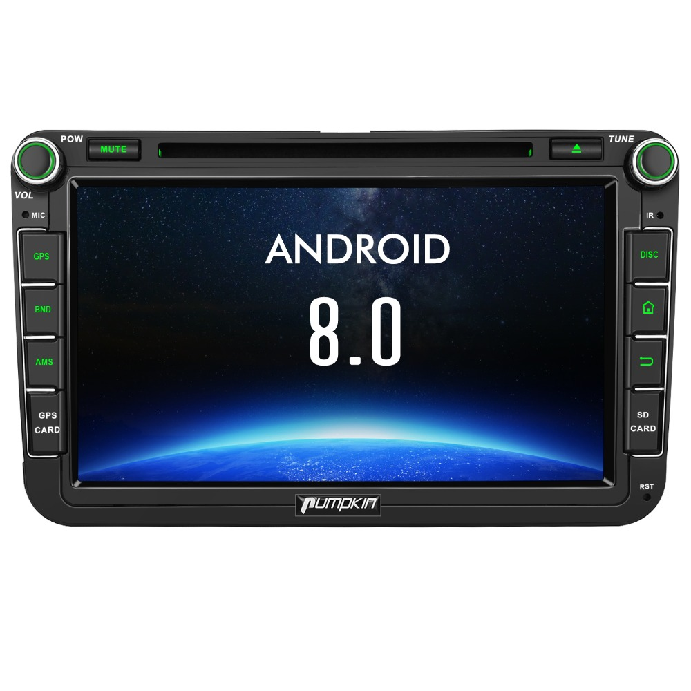 Zucca 2 Din 8 ''Android 8.0 Auto Radio Lettore DVD di Navigazione GPS Per VW/Skoda/Seat/ golf Car DVR 4 gb di RAM Wifi 4g FM Radio Stereo