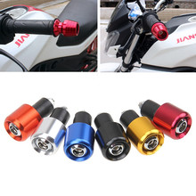 "6 Colores De Aluminio CNC Motorcycle 7/8 ""22mm motocross apretones de manillar grip handle bar end plug universal para honda suzuki yamaha"