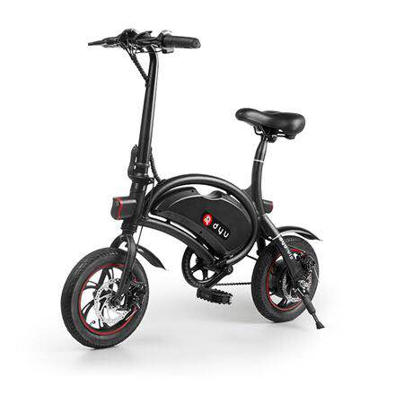 12inch DYU D2 Electric Foldable Bike 2017 dyu d1 electric foldable bike luxury type