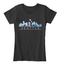 Brand Clothes Summer 2018 Printing Machine Men Seattle Washington Downtown City Skyline O-Neck Short-Sleeve T Shirts недорго, оригинальная цена