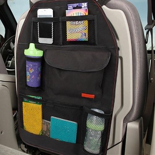 Convenient Car Seat Back Organizer Multi-Pocket Storage Bag Box Case convenient storage organizer carrier nylon bag for 18650 26650 battery black
