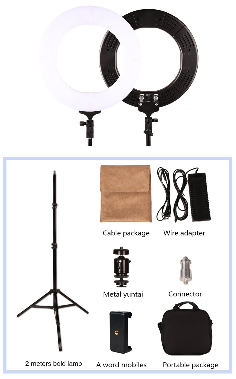 GSKAIWEN RL-12 3200K-5500K Fotografi Studio Ring Lampa Med Stativ - Kamera och foto - Foto 1