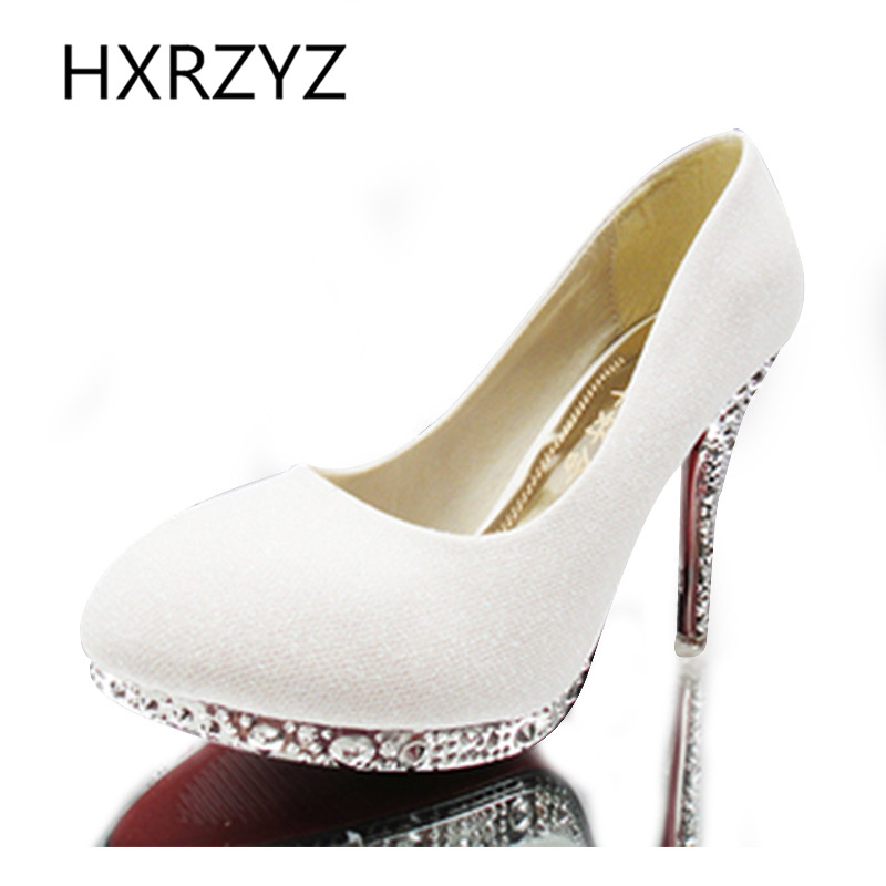 handmade sparkling crystal high heels Sexy super high heels women wedding shoes high-heeled bridal/bridesmaid shoes women pumps