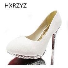 8 см / 10 см ручной работы игристое кристалл на высоких каблуках качество женщин свадебные туфли на высоком каблуке, свадебные и невесты обувь насосы 7 цветов