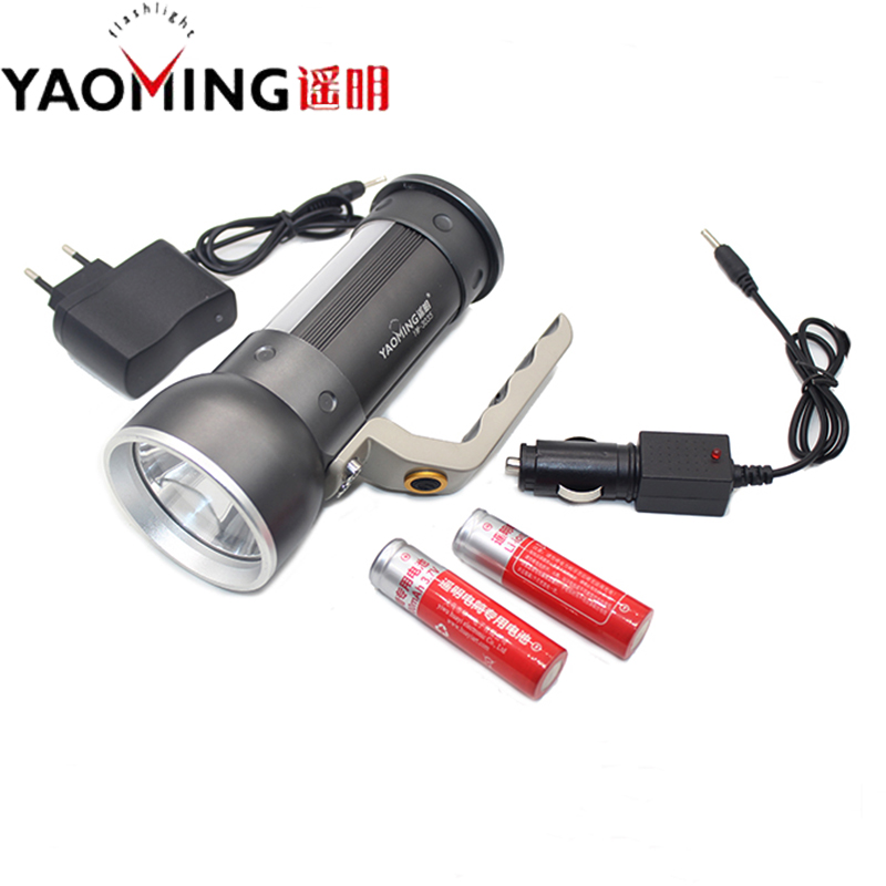 Powerful CREE LED 2300Lm Rechargeable Flashlight Torch Portable Light hand lamp Waterproof Lantern + 2 x 18650 Battery Charger