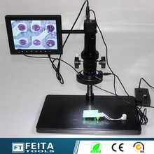 Big discount Aliexperss wholesale high quality 130w scanning electronic digital microscope with 8″ LCD monitor AV Vedio microscope