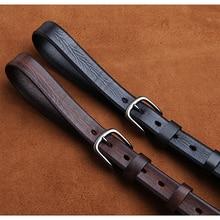 LANSPACE Brand handmade mens Leather Belts wholesale slim leisure jeans belt 2.7