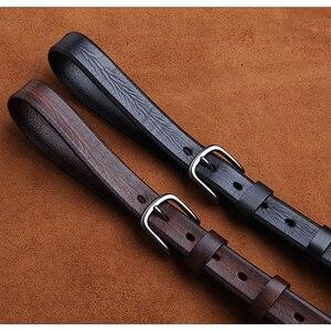 Image 1 - LANSPACE العلامة التجارية اليدوية الرجال أحزمة جلدية بالجملة سليم الترفيه حزام البنطال الجينز 2.7