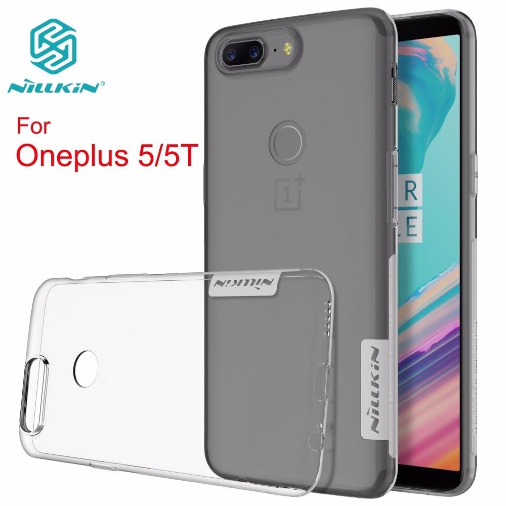 NILLKIN Nature TPU átlátszó Oneplus 5T tok Átlátszó, puha luxus hátlap az oneplus 5T / 5 plusz 5T / 5-hez, kiskereskedelmi csomaggal