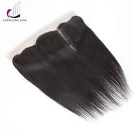 SHENLONG HAIR Peruvian Straight 1 Pcs 13 4 Lace Frontal Closure Non Remy 100 Human Hair