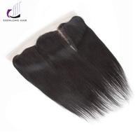 SHENLONG HAIR Peruvian Straight 1 Pcs 13 4 Lace Frontal Closure Non Remy 100 Human Hair