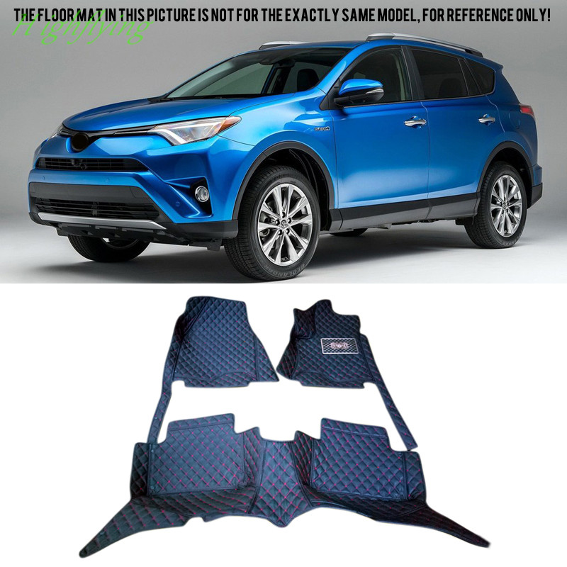 Interior Accessories Floor Mats & Carpets Foot Pad Covers Kit For Toyota RAV4 2006-2017 auto floor mats for honda cr v crv 2007 2011 foot carpets step mat high quality brand new embroidery leather mats