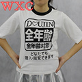Japanese Cool Women Tops Harajuku Shirt Summer Letters Printing Tops Tee Short Sleeve Loose Unisex T-shirt WXC