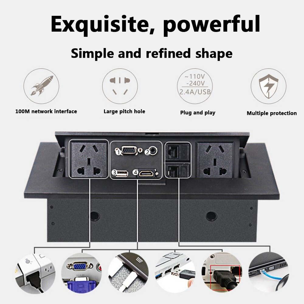 K514 norme AU/ue/US/alimentation universelle/prise de table/prise de bureau multimédia haute définition cachée/HDMI Pop-up