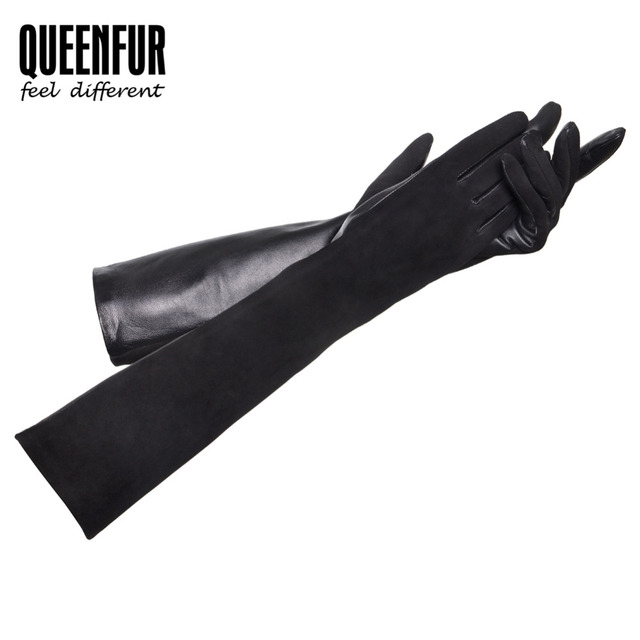 2016 Women Glove With Velvet Short Genuine Leather Gloves Winter Goatskin Leather Mittens Winter Warm Real Sheepskin Gloves
