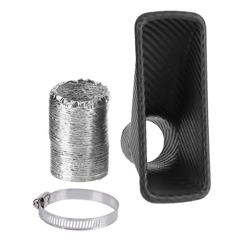 1 pçs amortecedor dianteiro automático turbo tubo de entrada de ar turbina tubo de entrada funil de ar kit estilo do carro sistema de admissão de ar frio kit filtro de ar