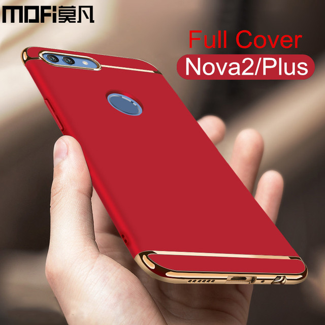 huge discount 92e67 6be0e US $8.79  Huawei nova 2 plus case nova2 plus back cover hard joint luxury  full protect phone capas red MOFi original huawei nova 2 case-in Fitted ...