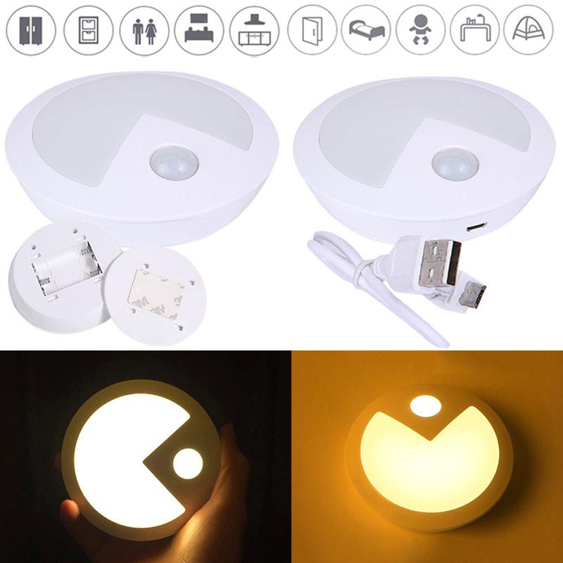 FHRTE Krpersensor Lampe Wiederaufladbare Batterie Camping Nachtlicht Fr Wohnzimmer Babyroom Schlafzimmer Korridor Kleiderschrank CLH