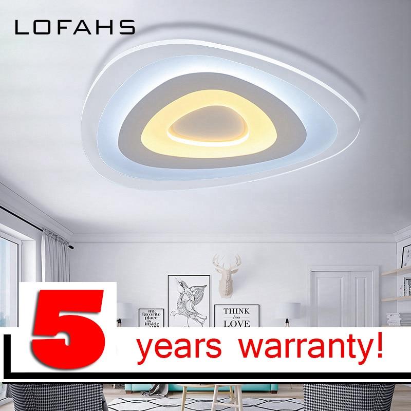 Triangle mince moderne LED plafond lustre Creative arc triangle lampe En Plexiglas maison encastré éclairage à la maison lumiere luz