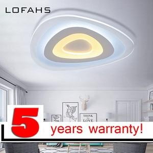 Image 1 - Dreieck thin moderne LED decke kronleuchter Kreative arc dreieck Plexiglas lampe hause flush montieren hause beleuchtung lumiere luz
