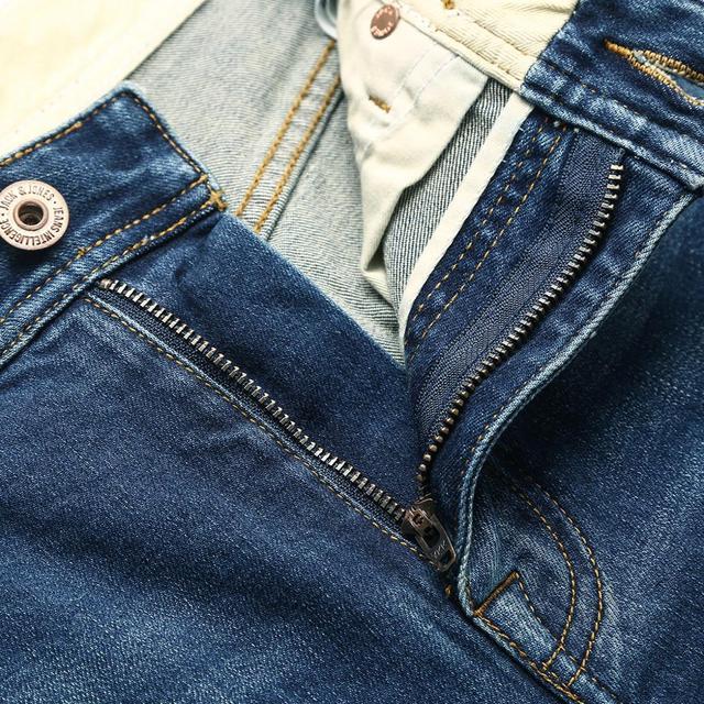 Men's Plaid Blue Multimodel Jeans