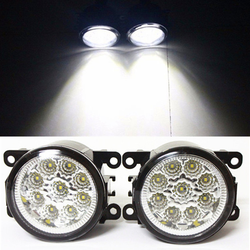 For FORD FOCUS III MK3 Saloon 2011-2015 Car LED DRL Daytime Running Lights Refit Blue White Yellow 12V Fog lamps Light
