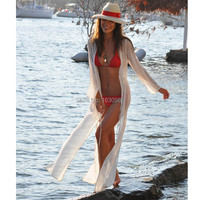 New Vintage Beach Cover Up 2015 Top Fashion Women Summer Dress Sexy Chiffon Swimsuit Cover Up