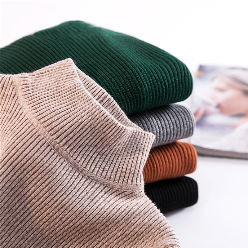 Autumn Winter Half Turtleneck Sweater Women Pullover Long Sleeve Slim Tight Elasticity <font><b>Knitwear</b></font> Short Bottoming Sweater Jumper