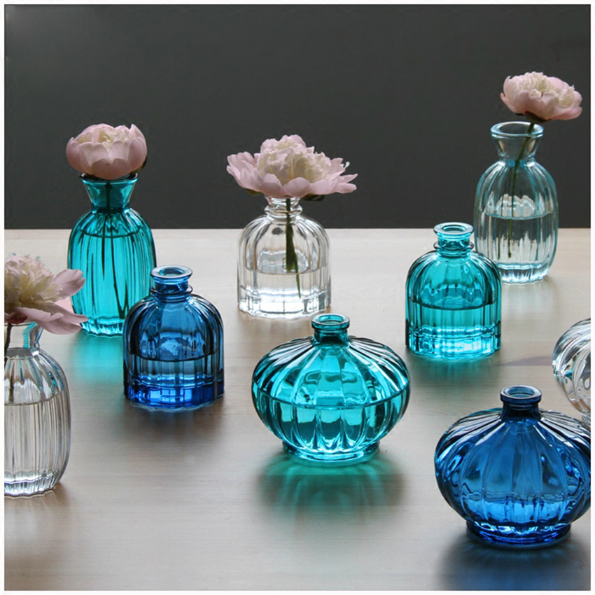 Ic Free Shipping >> Transparent Tabletop corlorful mini Glass Vase Perfume bottles Hydroponic Container Terrarium ...