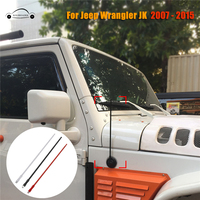 13 Aluminium AM FM Antenna Radio Antennas Mast For Jeep Wrangler JK Unlimited Sahara Rubicon 2007 2015 Signal Amplifier Aerial
