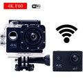 Estilo gopro hero 4 wi-fi câmera esporte ação cam f60 ultra 4 K HD 16Mp 170 graus Wide Angle à prova d' água mini Câmera de ação