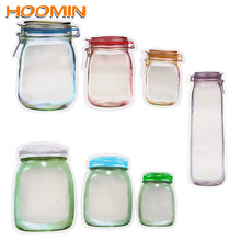 HOOMIN Storage Bag Smell Proof Clip Stand Up Bag Food Grade Plastic Food Snack Pouches Zip Lock Bag Storage Zipper(China)