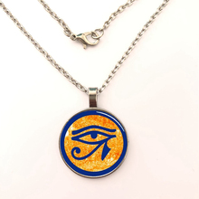 YSDLJG Eye of Ra Egyptian Sun God Symbol Glass Dome Necklace Pendant glass dome necklace sacred geometry art picture jewelry