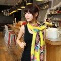 Bufanda de algodón Mujeres Colores Slik Bufanda Femenina Diseñador de la Marca Bufandas de Las Señoras 2015 Mantón Foulard Femme Bufandas Otoño Invierno WJ060