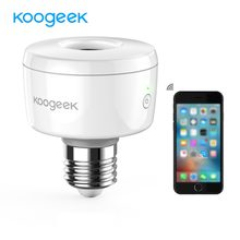 Koogeek E26 E27 Wifi Smart Socket Light Bulb Adapter Smart Lamp Siri Smart Remote Voice Control for Apple HomeKit[ Only for IOS](China)