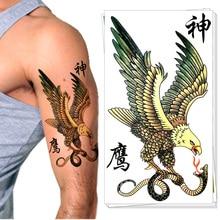 Condor Eagle Temporary Tattoo Body Art Flash Tattoo Sticker 17*10cm Waterproof Tatoo Henna Summer Beach Style Adult Sex Products