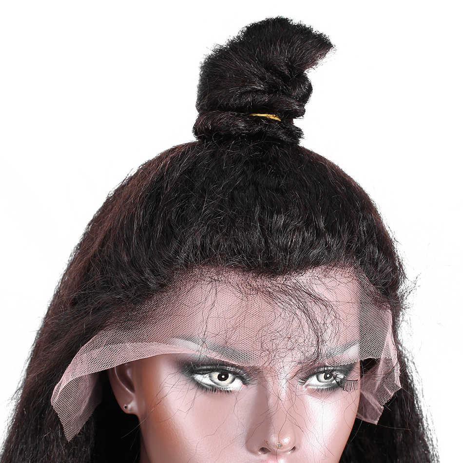 Кудрявый прямой парик 28 30 дюймов Кружева передние человеческие волосы парики для женщин натуральные волосы линии с волосами младенца remy волосы rosabeauty