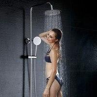 12 inch Shower Head Round Stainless Steel Ultra thin Showerheads Rainfall Shower Head Rain Shower Head Showerhead Flat