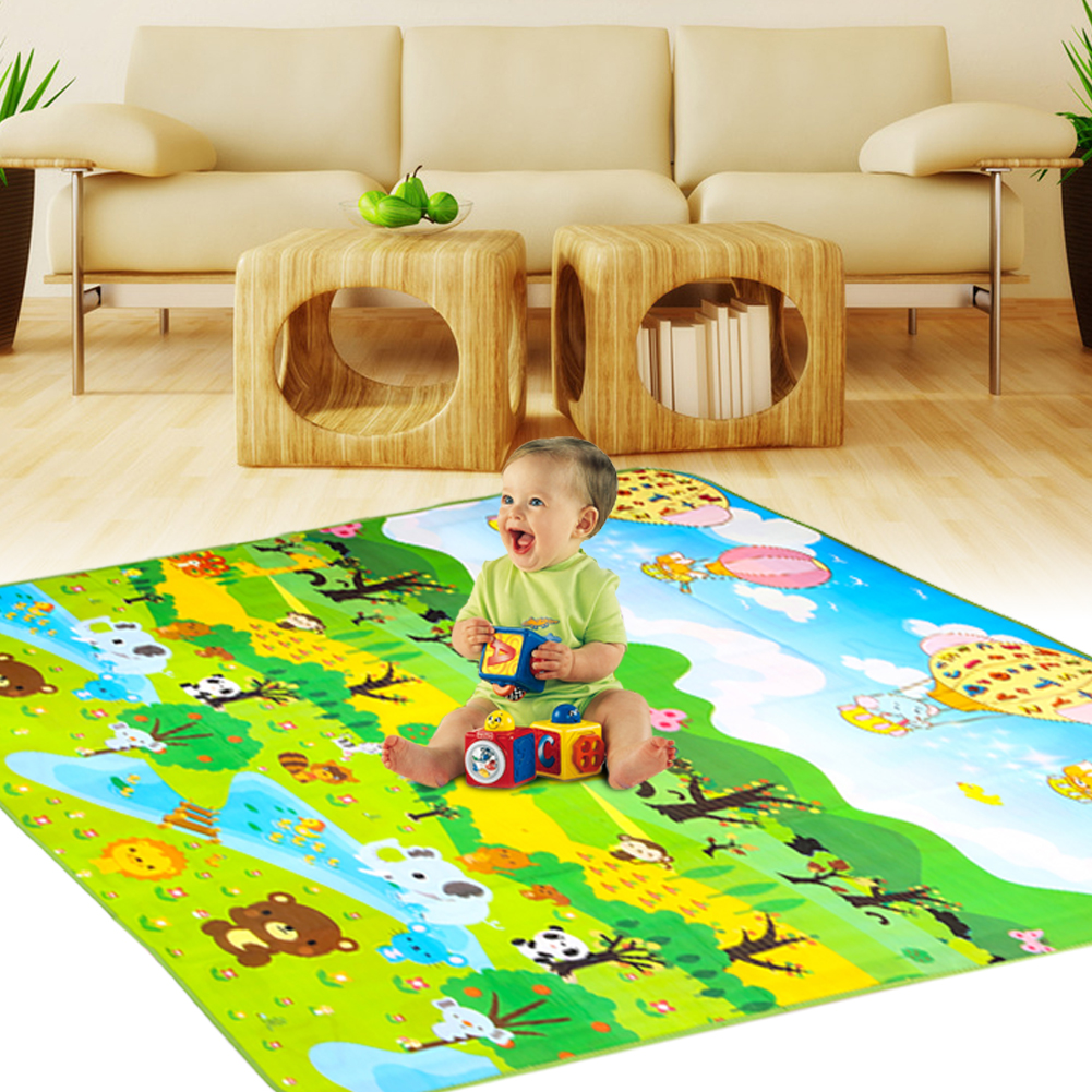 Double Side Baby Play Mat Eva Foam Developing Mat for Children Carpet Kids Toys Gym Game Rug Crawling Gym Playmat Christmas Gift цена 2017