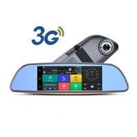 3G Samochód DVR + Android 5.0 GPS Bluetooth FM nadajnik z dwoma obiektywami lusterko wsteczne kamery + FHD1080P camara