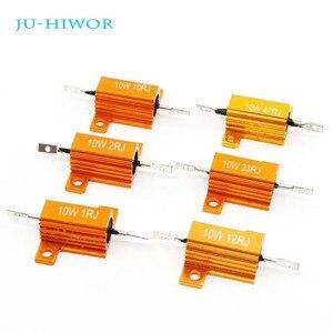 Алюминиевый высокомощный резистор RX24, 10 Вт, металлический корпус, радиатор 1, 10, 33, 47, 100, 1K, 10K, Ом, несколько значений сопротивления